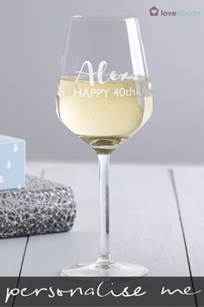 Personalised Wine Glass by Loveabode