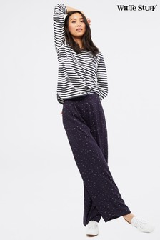 White Stuff Blue Filey Wide Leg Trousers
