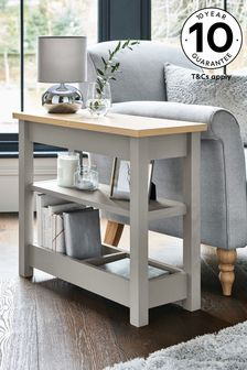 Malvern Dove Grey Sofa Side Table
