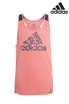 adidas Pink Leopard Print Vest