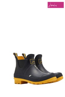 Joules Black Molly Mid Height Welly