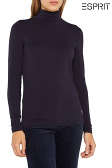 Esprit Blue Roll Neck T-Shirt