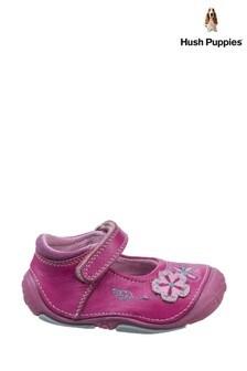 Hush Puppies Pink Lara Touch Fastening Shoes