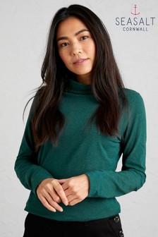 Seasalt Petite Green Landing Top