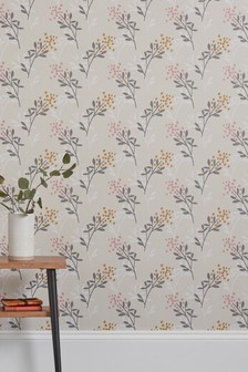 Paste The Wall Mari Sprig Wallpaper