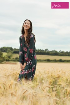 Joules Green Chloe Fixed Wrap Dress