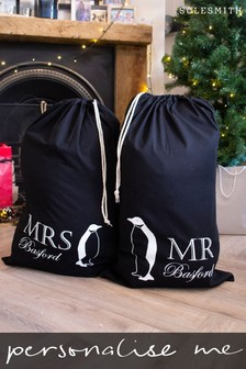 Personalised Mr & Mrs Penguin Sacks by Solesmith
