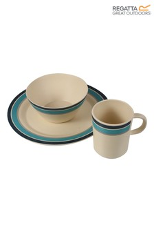 Regatta Grey 2 Person Bamboo Crockery Set