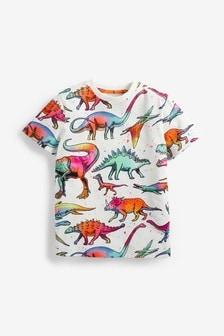 Rainbow Dino All Over Print T-Shirt (3-14yrs)