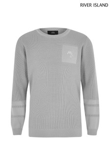 River Island Grey Pale Polyelit Jumper