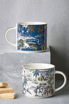 Set of 2 Tropics Mugs