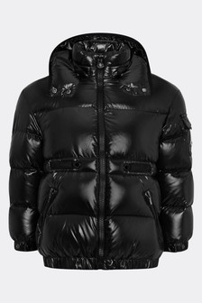 Girls Black Down Padded Badymore Jacket