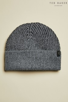 Ted Baker Grey Plahat Knitted Hat