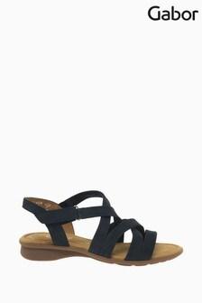 Gabor Moben Blue Nubuck Sandals