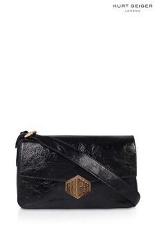 Kurt Geiger London Black Geiger Patent Bag