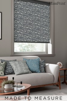 Saplings Graphite Black Made To Measure Roller Blind by MissPrint