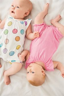 Jersey Rompers Two Pack (0mths-2yrs)