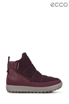 Ecco Purple Fig Side Velcro Boot