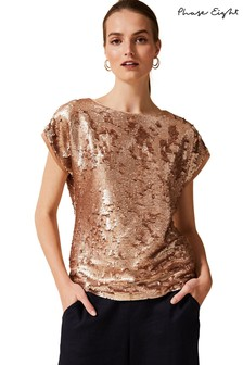 Phase Eight Avelina All Over Sequin Tee