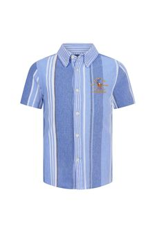 Ralph Lauren Kids Boys Blue Pique Poloshirt