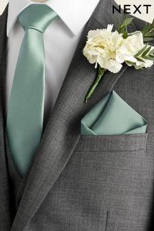 Silk Tie And Pocket Square Set