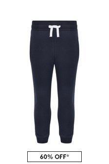 Aigner Boys Navy Cotton Trousers