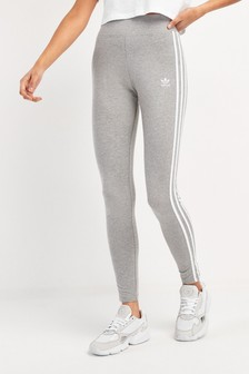 adidas Originals Grey High Waist 3 Stripe Leggings