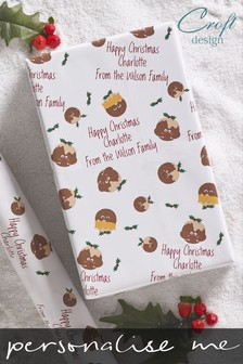 Personalised Pudding Wrapping Paper by Croft Designs