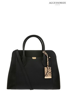Accessorize Black Tessa Work Tote Bag