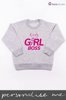 Personalised Girl Boss Jumper by Loveabode