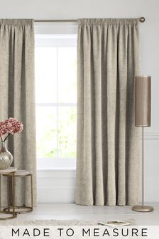 Made To Measure Natural Heavyweight Chenille Curtains