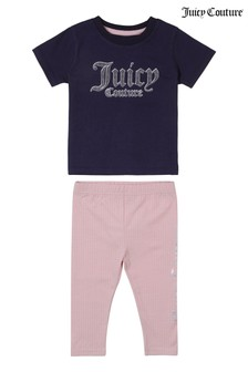 Juicy Couture Dot Print Tee and Legging Set