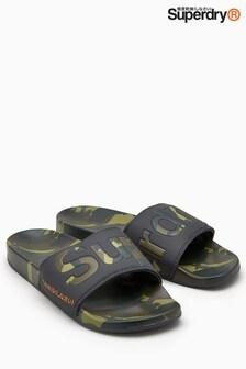Superdry Camo Print Beach Slider