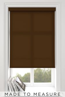 Asher Mocha Brown Made To Measure Light Filtering Roller Blind