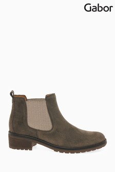 Gabor Brown Brilliant Womens Suede Ankle Boots