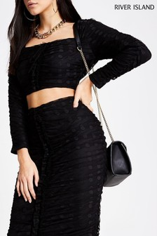 River Island Black Going Out Pack Penne Top