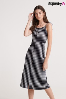 Superdry Navy Stripe Dress