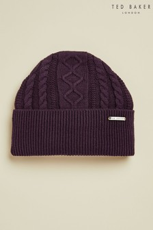 Ted Baker Purple Vartan Multi Stitch Hat