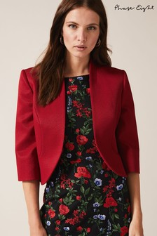 Phase Eight Red Tammy Textured Jacket
