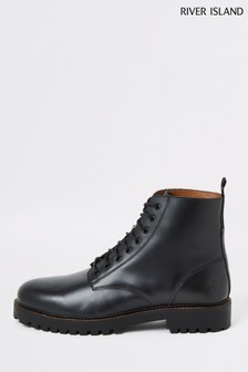 River Island Briggs Leather Boots