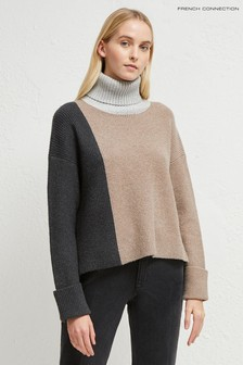 French Connection Grey River Vhari Roll Jumper