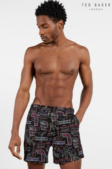Ted Baker Surpa Neon Sign Printed Swim Shorts