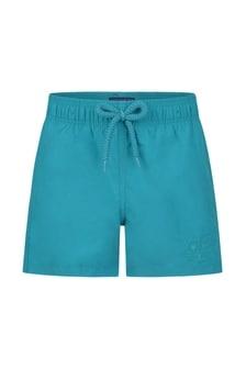 Vilebrequin Boys Blue Turtles Water Reactive Swim Shorts