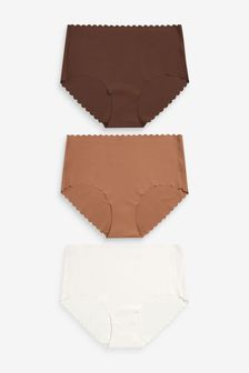 Scallop Knickers Three Pack