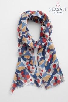 Seasalt Natural Pretty Printed Scarf
