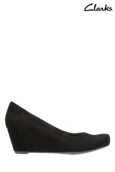 Clarks Black Flores Tulip Shoe