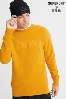 Superdry Yellow Logo Crew Jumper