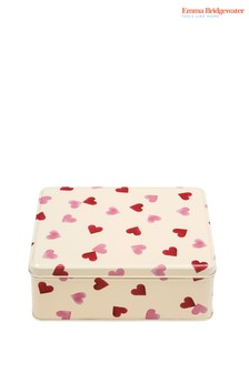 Emma Bridgewater Pink Hearts Deep Rectangular Tin