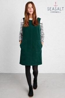 Seasalt Green Decoupage Pinafore Dress