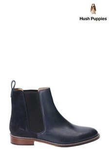 Hush Puppies Blue Chloe Slip-On Ankle Boots